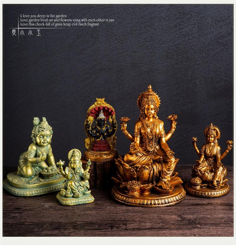 Hindu Gods Full Series Vishnu Shiva Auspicious Days Female Snow Mountain Goddess Monkey God Hakuman Ornaments  Home Decor