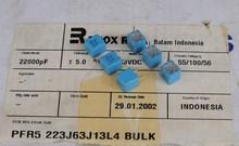 10 Uds nuevo EVOX PFR5 22000PF 63V P5MM MKP 223/63V película EVOX RIFA jubilación 22nf/63v 0.022uF 63VDC 22nF 223