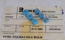10PCS ใหม่ EVOX PFR5 22000PF 63V P5MM MKP 223/63V ฟิล์ม EVOX RIFA PFR 22NF/63 V 0.022uF 63VDC 22nF 223