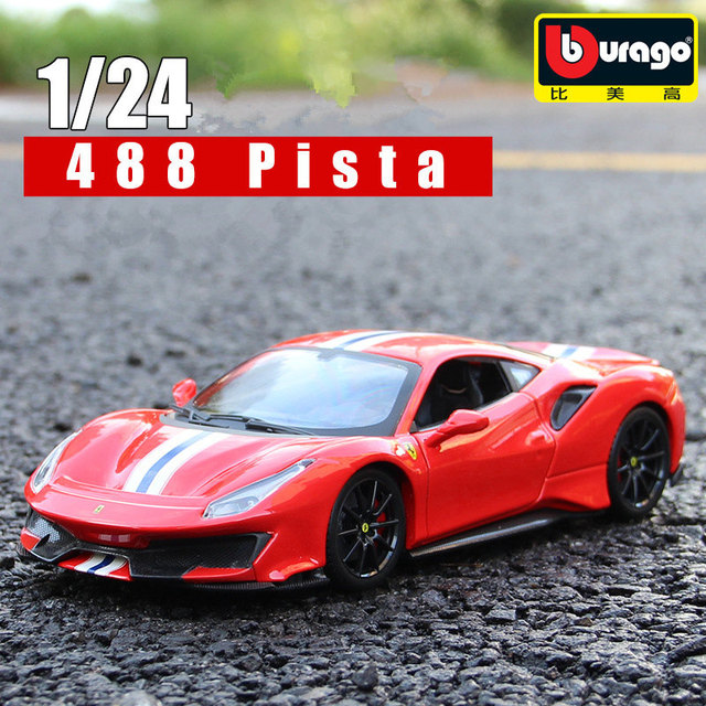 Ferrari 458 Italia Rojo 1:24 de Metal Modelo Coche Por Bburago 26003 Nuevo 2015