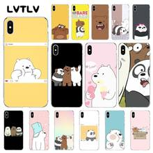 LVTLV we bare bears Phone Case For iPhone 11 pro XS MAX 8 7 6 6S Plus X 5 5S SE XR cover(China)