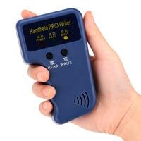 125Khz Handheld RFID Reader Writer ID Card Keyfob Duplicator Duplicate/Copy Door System + 5pcs Writable T5577 Cards