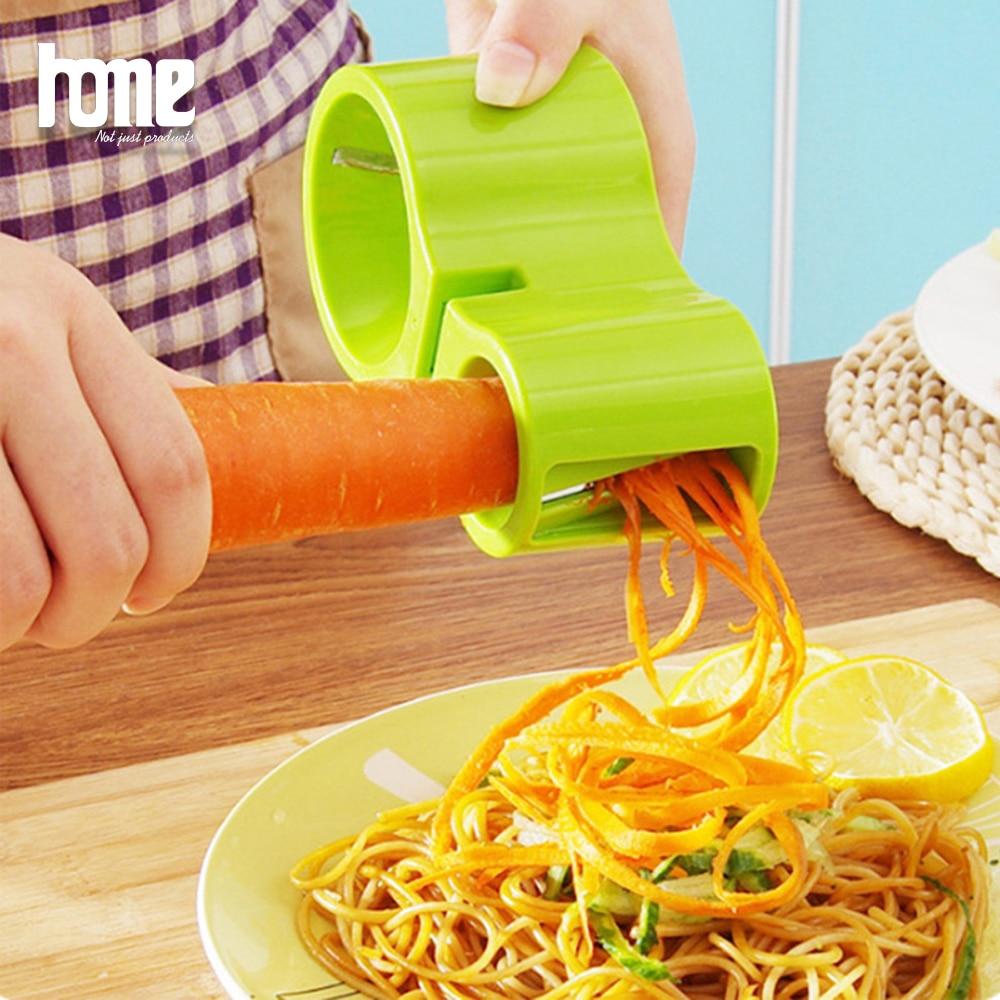 Ручная терка для овощей спиральный измельчитель для тыквы, моркови, мандолина, мульти-овощной салат, Спиннер, измельчитель капусты, кухонные гаджеты