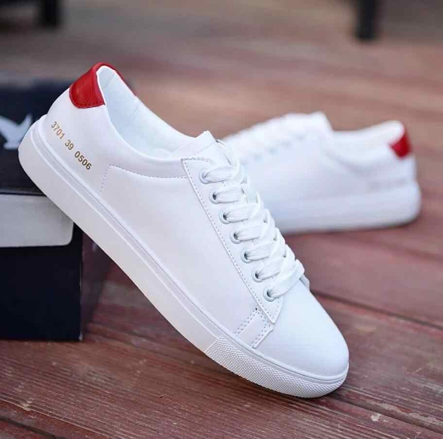 2019 Lente Schoenen Wit Mannen Sneakers Casual Zacht Leer Mannen Schoenen Merk Fashion Man designer Trainers Schoenen zapatillas hombres