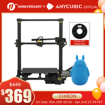 ANYCUBIC Chiron 3D Printer DIY TFT Auto-leveling impresora 3D Printers Extruder Dual Z axis Impressora 3D Printing Kit Drucker 1