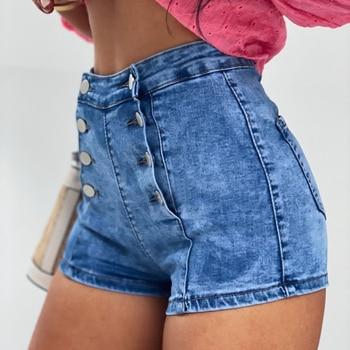 women shorts jeans summer high waisted denim shorts jeans women new skinny slim denim shorts High Waisted Skinny Jeans Women Summer 2020 New Denim Shorts Jeans Fashion Women Short Femme Slim Denim Push Up Shorts for Girls