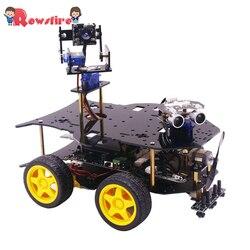 Último Kit de iniciación para Raspberry Pi cámara HD programable Robot inteligente Kit de coche con 4WD electrónica DIY madre Kit de juguete