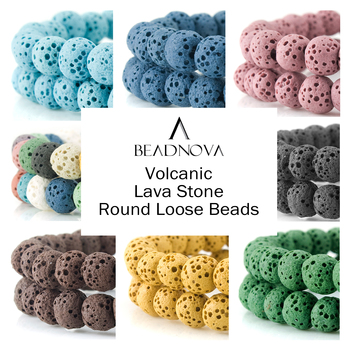 Lava Rock Stone Beads Volcanic Rock Round Healing Chakra Black Colored Blue Pink Grey White 6mm 8mm 10mm 12mm 14mm Loose Beads цена 2017