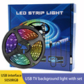 Colorful discoloration led lamp with Backlight USB Powered LED strip light RGB 5050 For living room TV Mirror atmosphere lamp