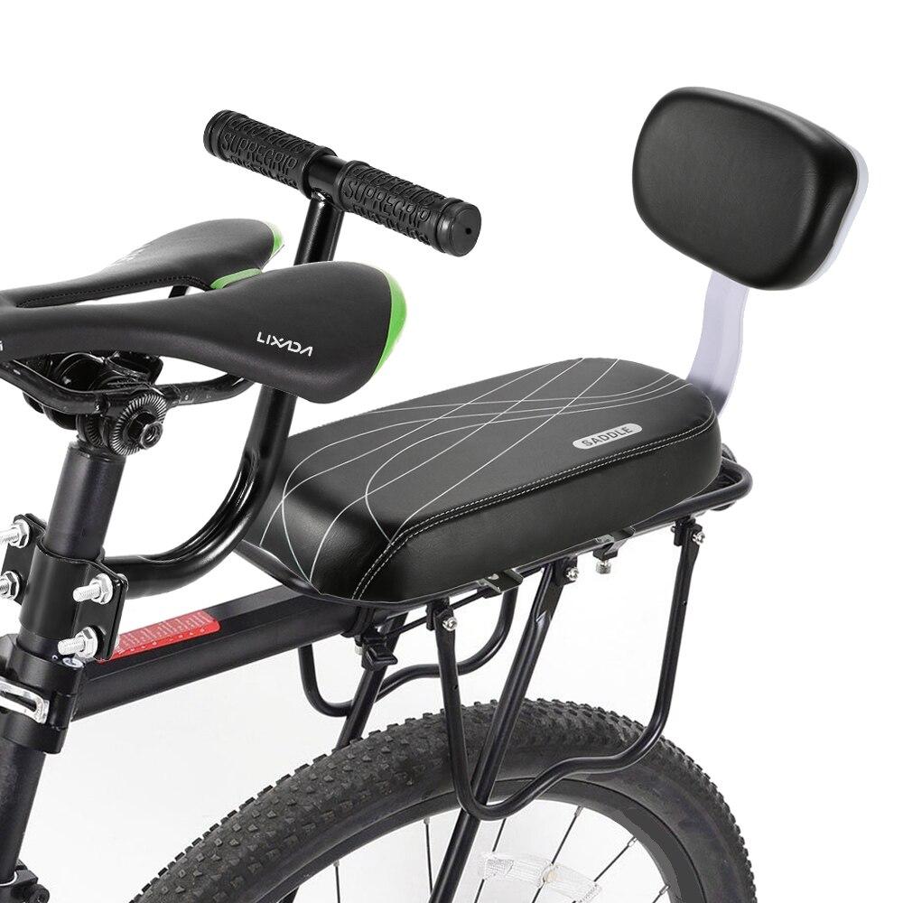 Selim de bicicleta de Ciclismo Bicicleta Tampa de Assento de Segurança para Crianças Rack Resto Almofada Cadeira Apoio de Braço Para Trás Sela Acessórios Peças de Bicicleta Ciclo
