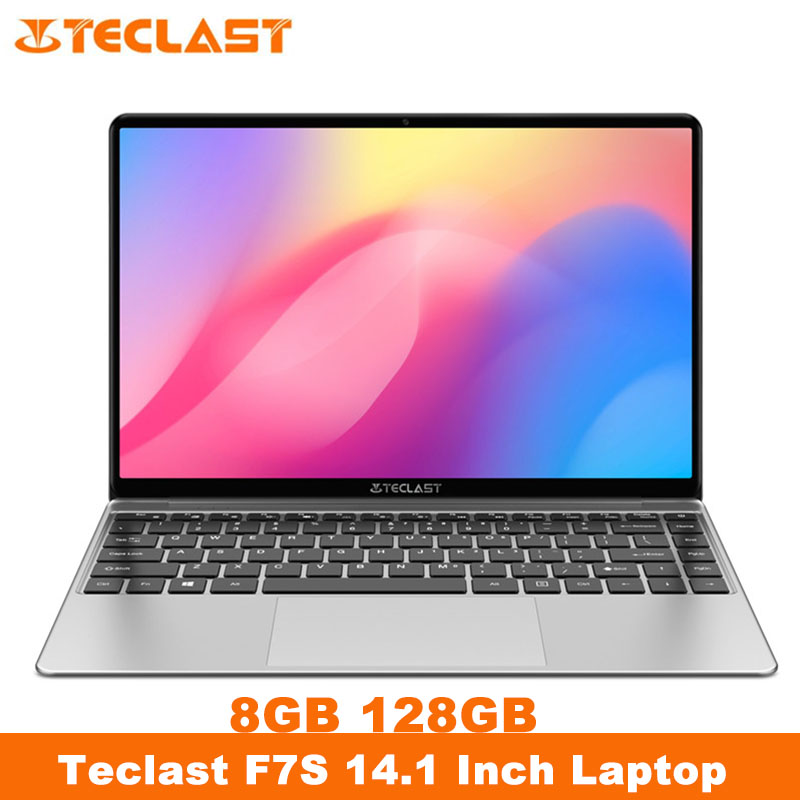 Teclast F7S Laptop 14 1inch Full HD 1920x1080 IPS Notebook 8GB RAM 128GB EMMC Laptops Bluetooth Wifi Apollo Lake N3350 Computer