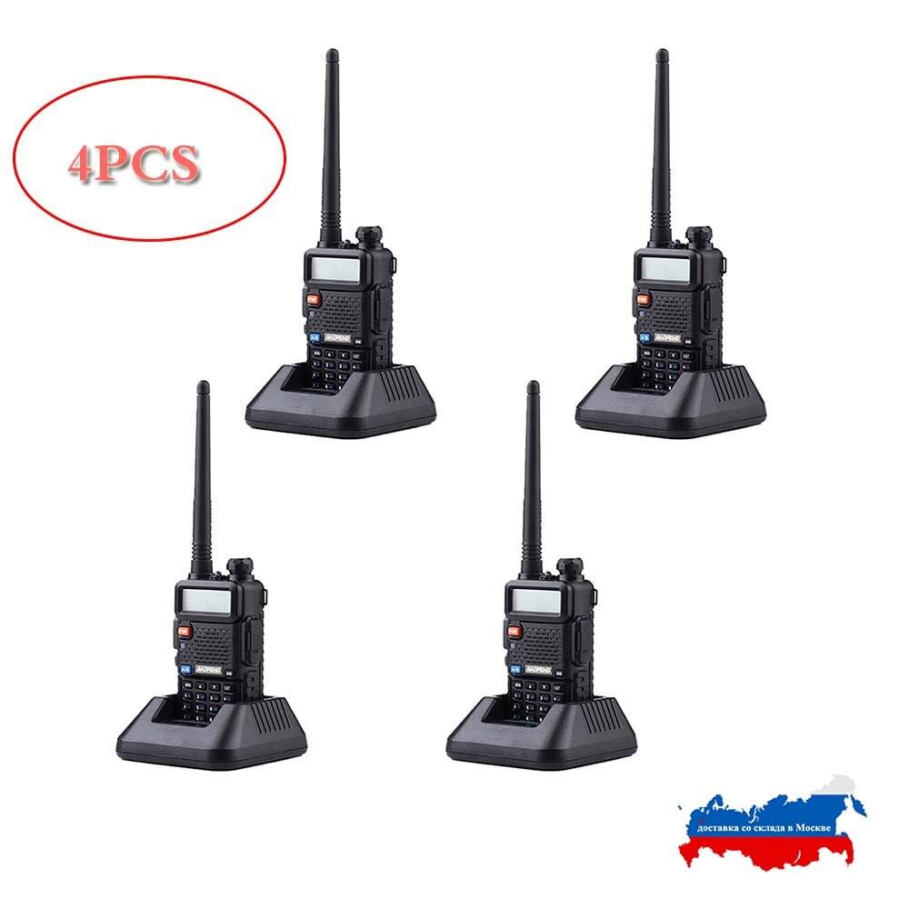 4PCS Baofeng UV-5R Portable Walkie Talkie Radio Station 128CH VHF UHF Dual Band UV5R Two Way Radio For Hunting Ham Radio CB