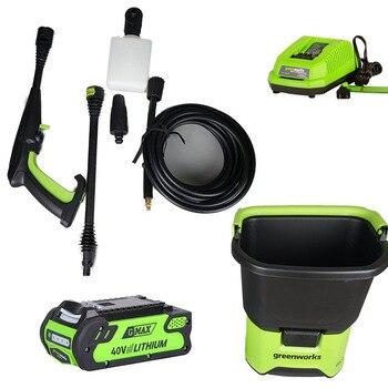 Greenworks cordless 40V Household Portable 70bar High Pressure Car Washer Washing Machine Electric Washing Device