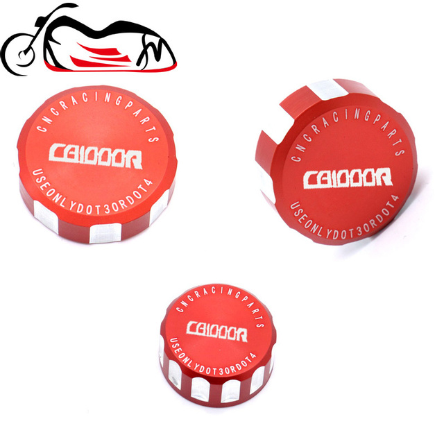 For HONDA CB1000R CB 1000R 2009-2014 2015 2016 motorcycle Front and Rear Fluid Reservoir Cover Mater Cylinder Cap