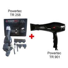 Powertec 901 sèche-cheveux + Tr 258 Machine à raser sans fil