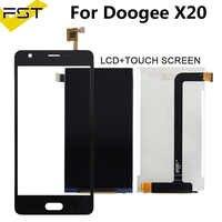 Für Doogee X20 X 20 LCD Display + Touch Screen Digitizer Für Doogee X20 5,0 Zoll Handy Zubehör Mit werkzeuge