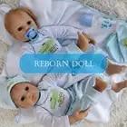 Otardddolls renascer 20 50 cm bebe silicone macio reborn bonecas do bebê do vinil brinquedos bonecas para meninas bonecas do bebê velho com pano azul - 5