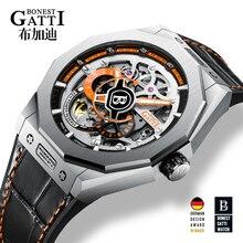 цена GATTI Relogio Masculino Mens Watches Top Brand Luxury Automatic Mechanical Watch Business Waterproof Sport Watch онлайн в 2017 году