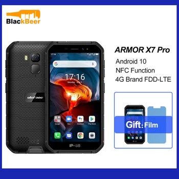 Перейти на Алиэкспресс и купить Ulefone Armor X7 Pro Android 10,0 мобильный телефон IP68 водонепроницаемый прочный смартфон 4 Гб + 32 ГБ Четырехъядерный 4G LTE мобильный телефон 4000 мАч NFC