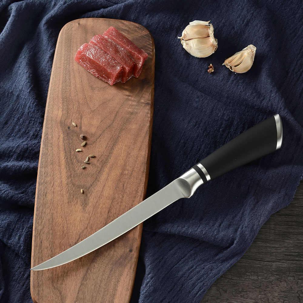 Nóż do trybowania 6 ''7'' 8 ''Cal noże kuchenne nóż do filetowania ze stali nierdzewnej na mięso wołowe kości ryby krojenie noże narzędzie do cięcia
