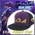 Бейсболка для косплея KDA Akali, женские и мужские головные уборы LOL, Снэпбэк кепки в стиле хип-хоп, аксессуары для косплея