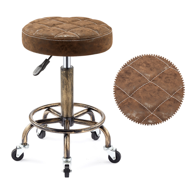 Beautifying stool lifting rotary hairdressing master stool anti-explosion corridor pulley round stool for hairdressing 5