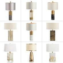 Lampe de bureau en marbre Style chinois Post-moderne, modèle luxueux, lampe de Table en pierre nuage pour chambre à coucher