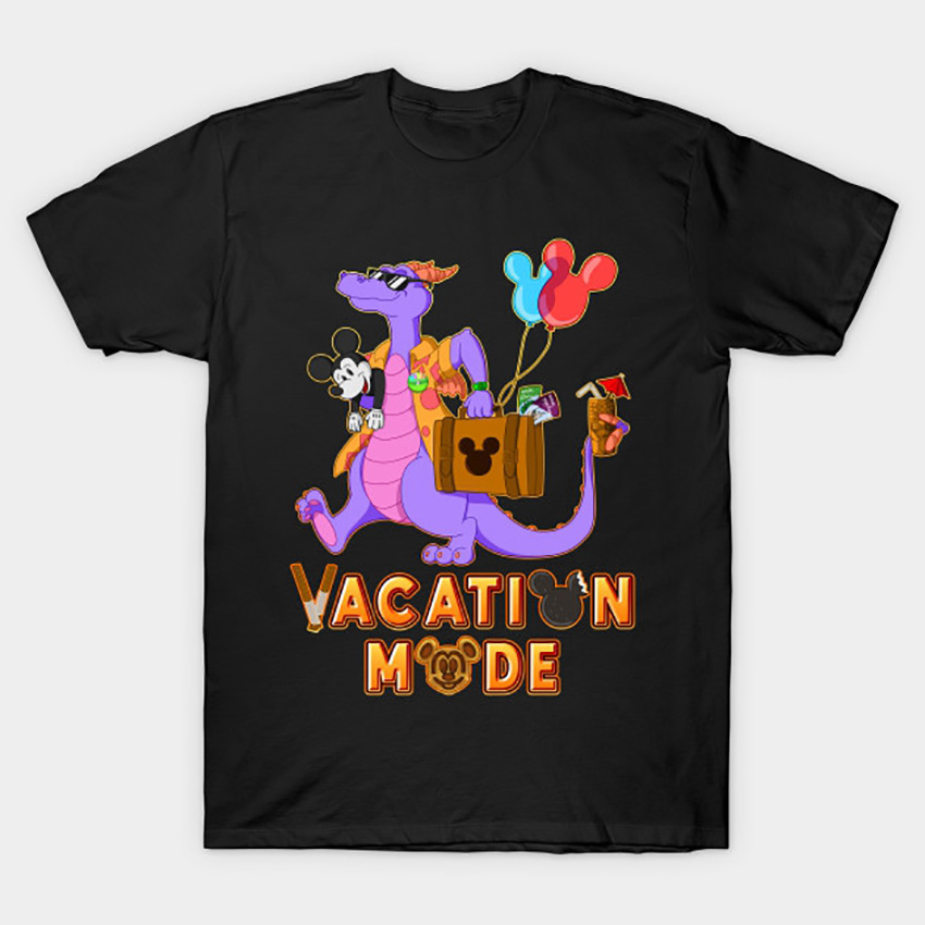 Vacation Mode T-Shirt Figment t shirt one little spark wdw retrowdw theme park epcotcenter journey into imagination figment(China)