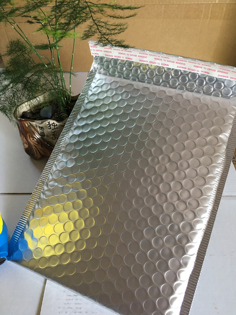 Packaging Shipping Bubble Mailers Sliver Self Seal Padded Envelopes Bag Bubble Mailing Bags Gift Wrapping Storage 10pcs 15*18cm