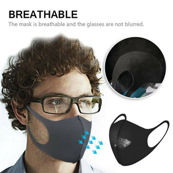 10/20pcs Anti-dust Mouth Face Mask Breathable Mask Bacteria Proof Flu Face Masks Windproof Black Mouth Mask In Stock MT#