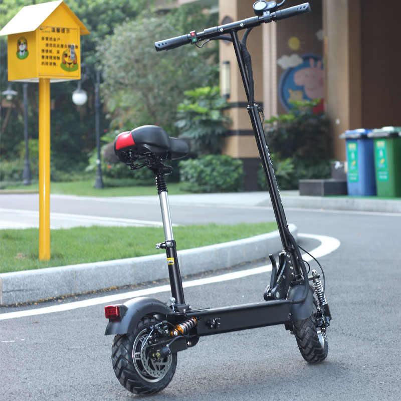EU Lager Erwachsene Elektrische Roller mit sitz 48V 1200W kick roller faltbare große rad electro bike patinete electrico