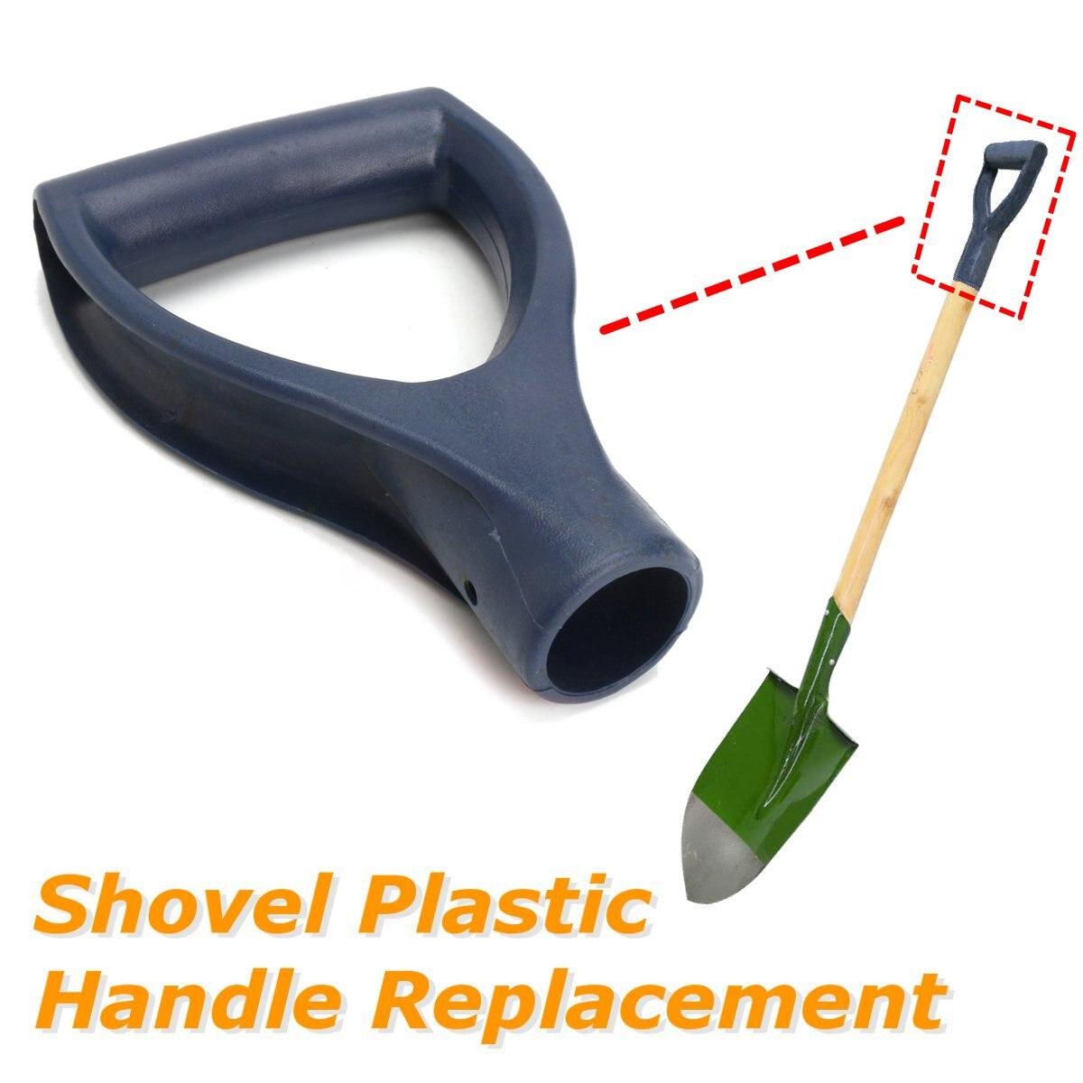 30mm D-shaped Steel Shovel Handle Black Plastic Replacement Accessories Snow Shovel Top Handle Garden Digging Raking Tools