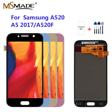 A520 LCD For Samsung Galaxy A5 2017 LCD A520 Display Touch Screen Digitizer For A520F SM-A520F LCD Adjust brightness super amoled a520 lcd for samsung galaxy a5 2017 a520f a520f ds a520k sm a520f display touch screen digitizer assembly lcd parts