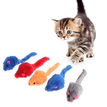 5 Pcs Toys False Mouse Plush Soft Colorful Kitten Pets Funny Squeaky Playing