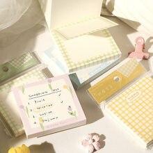 Yisuremia 100 folhas nota para kawaii bloco de notas para fazer lista diário planejador blocos de notas decorativas paperlaria papelaria escola