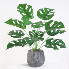 1 Bouquet/12 leaves Artificial Silk Palm Monstera Leaves Plant for Hawaii Luau Party Decorations Beach Wedding Table Decoration artificial tropical palm leaves monstera leaves 7 leaves bouquet 70cm simulated green plant leaf for indoor home decoration
