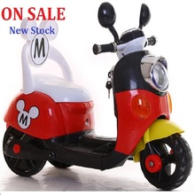 New Baby Drive Child Electric Motorcycle Tricycle Battery Car Can Sit On Stroller With Music