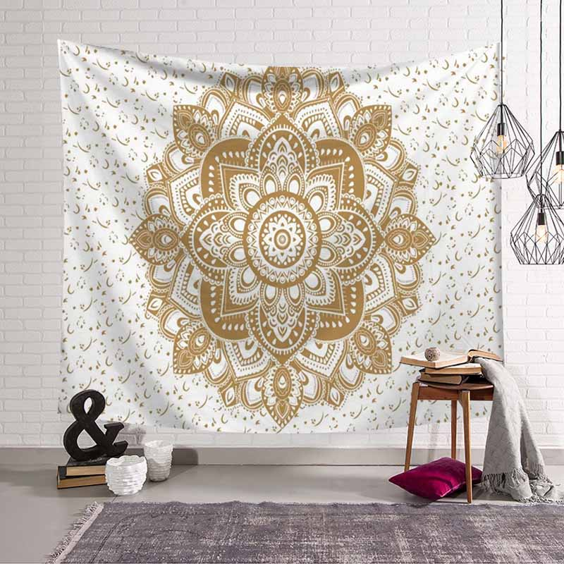 Hippie Wall Tapestry Mandala Tapestry Wall Hanging Witchcraft Boho Decor Psychedelic Blanket Thin Beach Yoga Mat Home Decoration