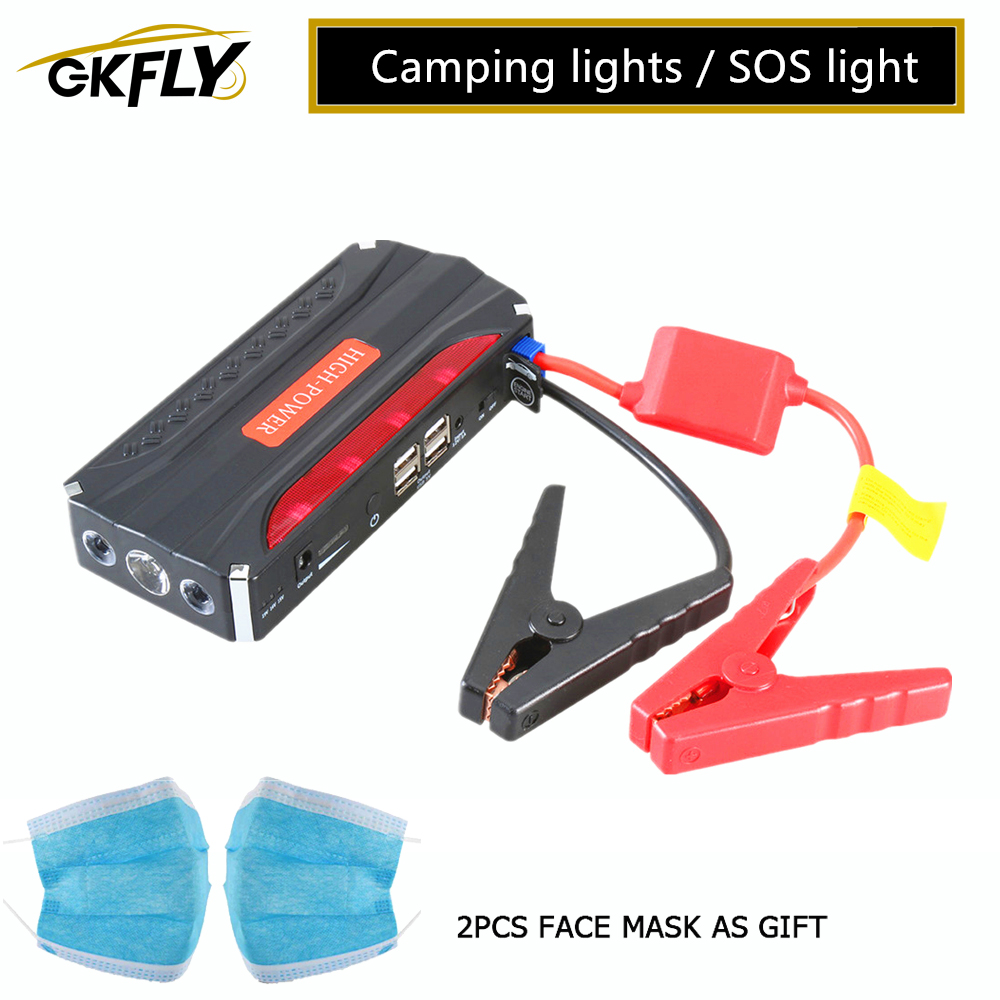 GKFLY Emergency <font><b>Car</b></font> Jump Starter 12V Portable Power Bank <font><b>Battery</b></font> <font><b>Charger</b></font> Booster Starting <font><b>Cable</b></font> Device Diesel petrol Auto LED image