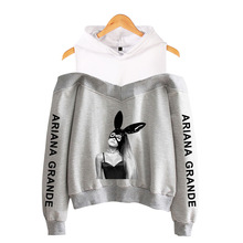 Hot Sales Ariana Grande Women's off-Shoulder Hooded Sweater
