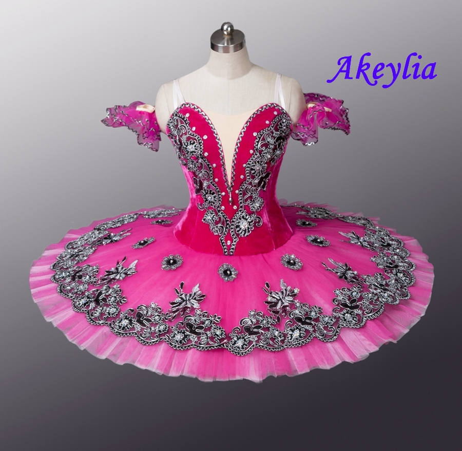 Velluto Royal Blue Bird Variazione di Balletto Professionale Tutu Donne Clsssical Tutu Pancake Del Costume Delle Ragazze Blu Swanlake Bambini - 6