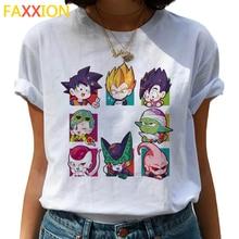 Dragon Ball Z femme Funny T Shirt Women Kawaii Son Goku Anime T-shirt Super Saiyan Ullzang Tshirt 90