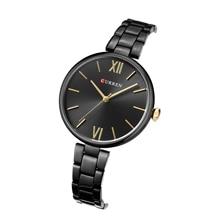 цена на CURREN Female Watches Classic Fashion Black Stainless Steel Women Watch Water Resistant Hardlex Simple Elegant Bayan Kol Saati