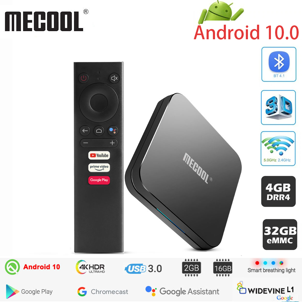 MECOOL KM9 PRO Android 10 0 TV Box Amlogic S905X2 4G DDR4 32G ROM 4K Google Certified Android 9 ATV Smart TV Box Voice Control