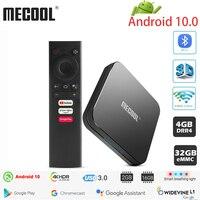MECOOL-TV Box KM9 PRO con Android 10,0, 4K, decodificador con Amlogic S905X2, de 4 GB DDR4, 32 GB de ROM, Android 9 certificado por Google, ATV, dispositivo de TV inteligente, Control por voz