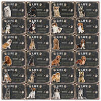 [ Kelly66 ] Dogs Beagle Chow Chow Boxer Border Collie Metal Sign Tin Poster Home Decor Bar Wall Art Painting 20*30 CM Size Dy103
