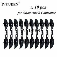 Ivyueen 10 pçs para xbox um s elite controlador rb lb botão de gatilho amortecedor mod kit substituição peças reparo acessórios do jogo