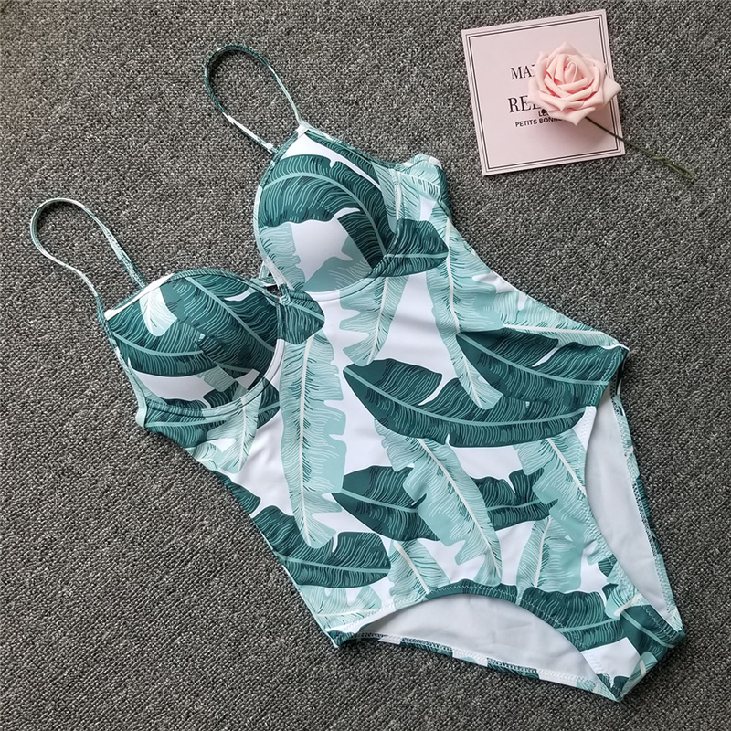 2019 One Piece Swimsuit Women Swimwear Sexy Monokini Push Up Swimming Suit Ruffle Bathers New Bathing Suit Female Beach Fused XL in Body Suits from Sports Entertainment