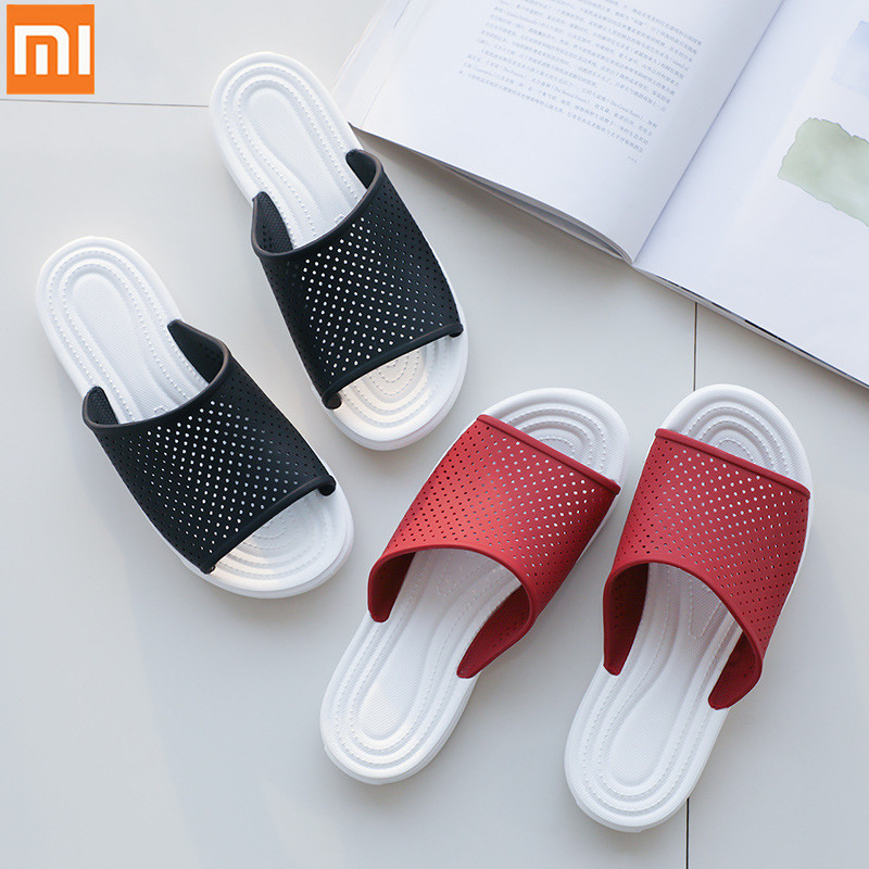 XiaoMi mijia couple slippers non-slip rebound decompression comfortable skin-friendly breathable bathroom slippers home sandals(China)
