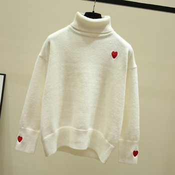 pullover solid color sweater 2021 autumn and winter new female hooded sweater fashion tide sweater  White 1